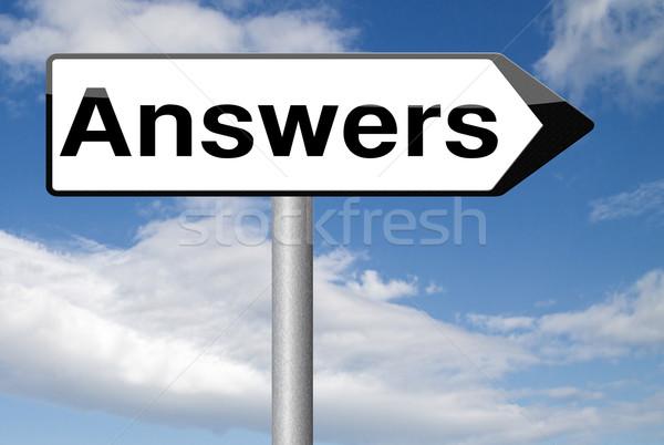 Pesquisar responder respostas perguntas resolver problemas Foto stock © kikkerdirk