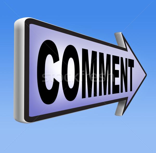 Comentario feedback escribir comentarios producto Foto stock © kikkerdirk