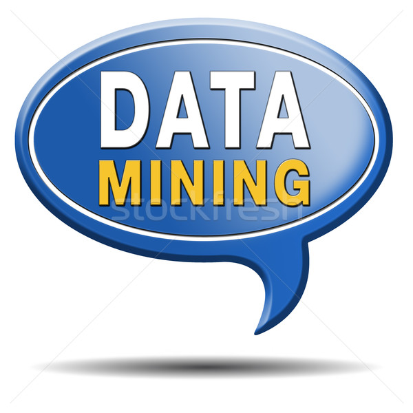 data mining icon Stock photo © kikkerdirk