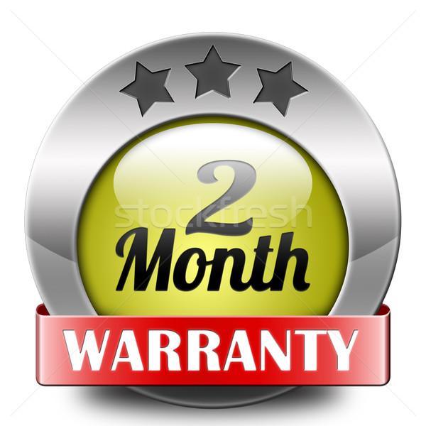 Kettő hónap garancia felső minőség termék Stock fotó © kikkerdirk