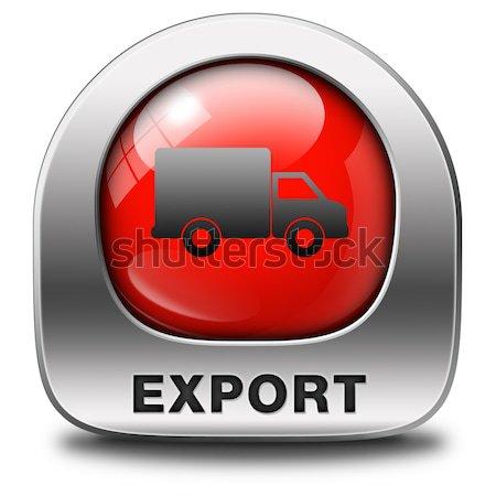 Import ikona międzynarodowych światowy globalny handlu Zdjęcia stock © kikkerdirk