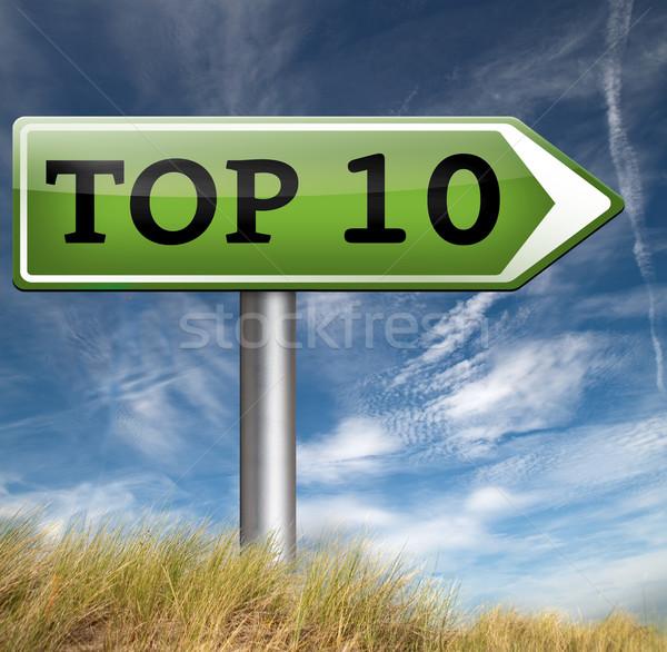 üst 10 liste pop Stok fotoğraf © kikkerdirk