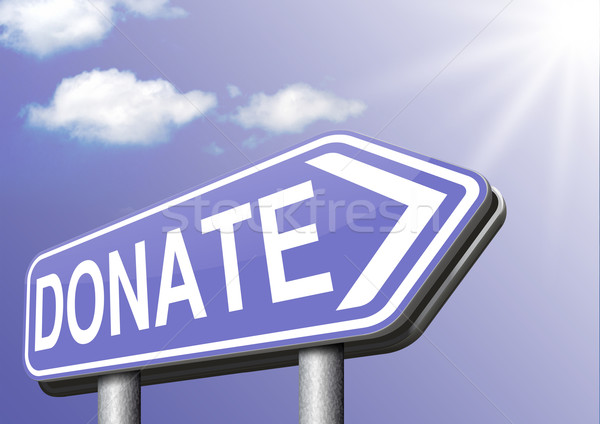 Donar caridad dar ayudar fondo dinero Foto stock © kikkerdirk
