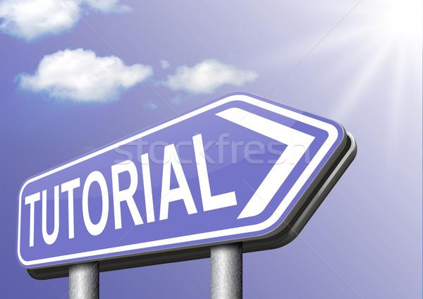 Tutorial online oktatás tanul online videó lecke Stock fotó © kikkerdirk