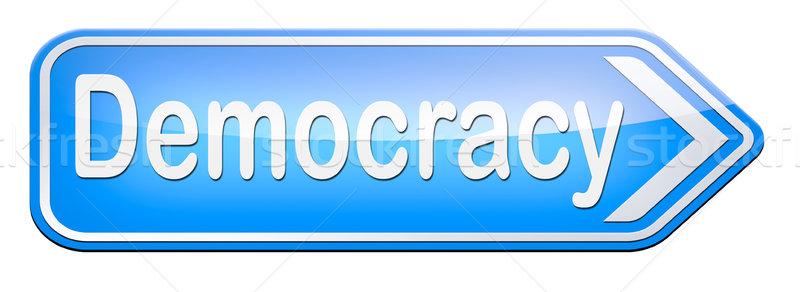 Democracia político liberdade poder pessoas novo Foto stock © kikkerdirk