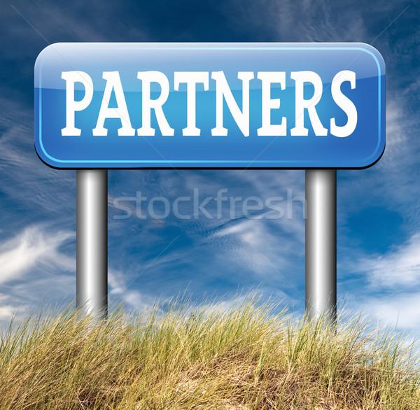 Partner Business Partnerschaft Zusammenarbeit Gruppe Stock foto © kikkerdirk