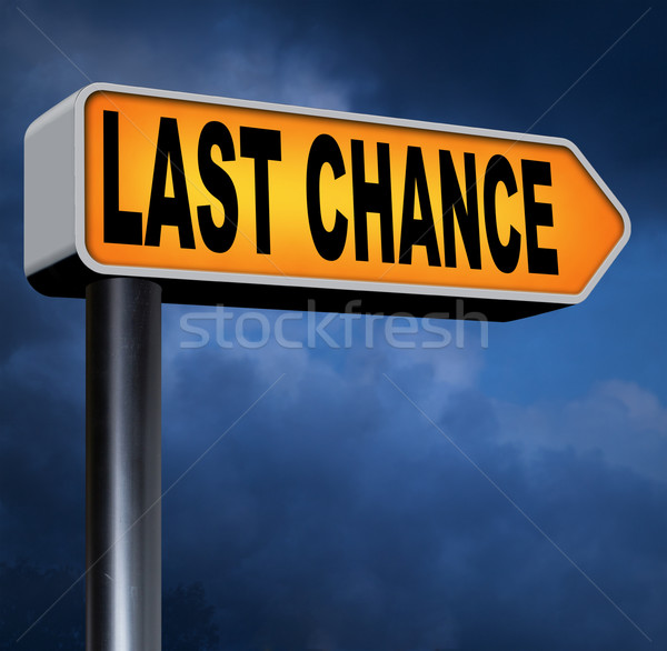 last chance Stock photo © kikkerdirk