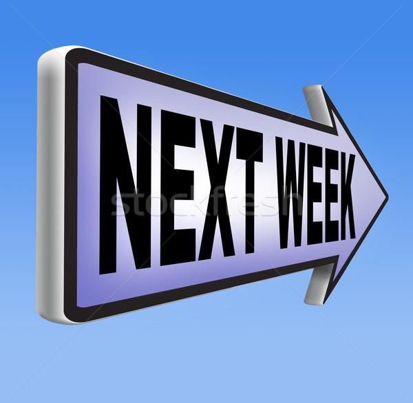 Próximo semana próximamente futuro programa tiempo Foto stock © kikkerdirk