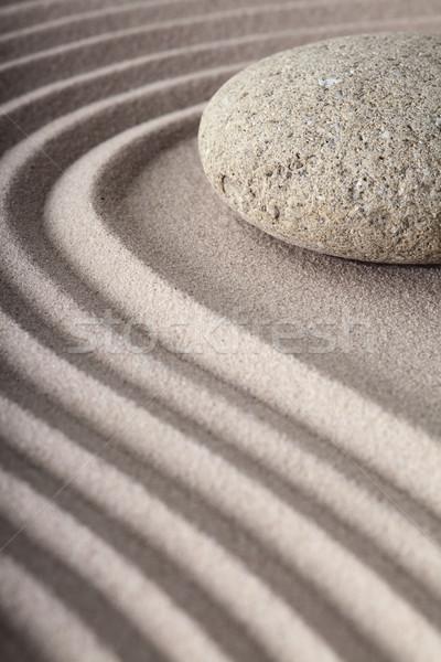 Zen jardín meditación spa patrón arena Foto stock © kikkerdirk