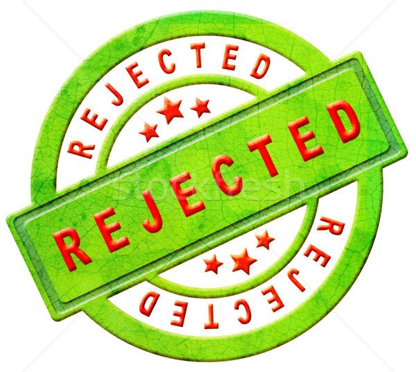 rejected stamp Stock photo © kikkerdirk
