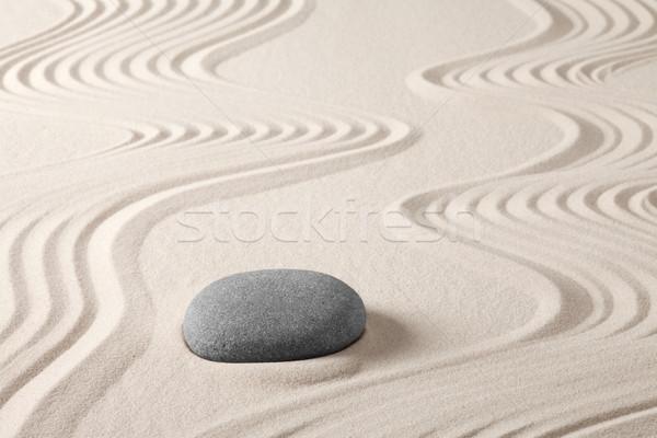 Stock fotó: Zen · meditáció · kő · kert · homok · japán