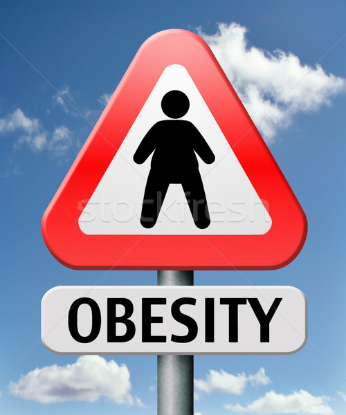 Elhízottság súly túlsúlyos elhízott emberek eszik Stock fotó © kikkerdirk
