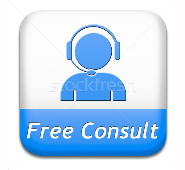 free consult button Stock photo © kikkerdirk