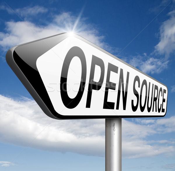 открытых источник программа программное экономики интернет Сток-фото © kikkerdirk