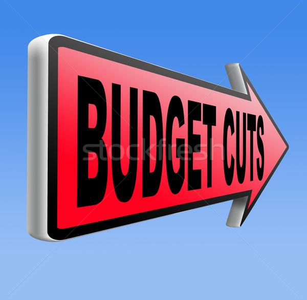 бюджет Cut кризис экономический рецессия баланса Сток-фото © kikkerdirk