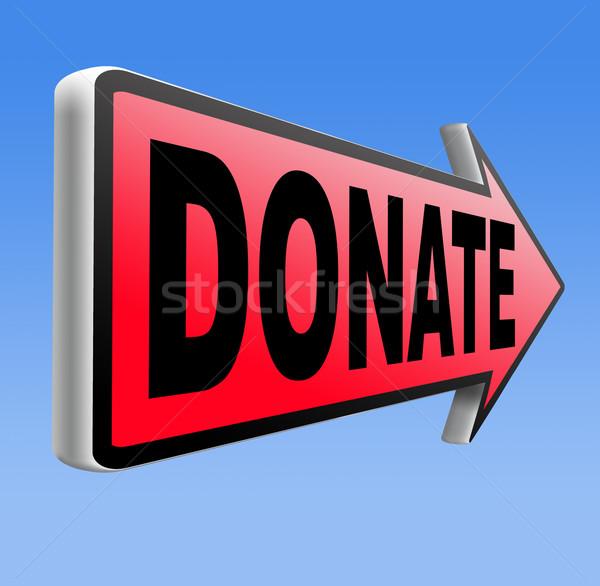жертвовать благотворительность подарок давать пожертвование поддержки Сток-фото © kikkerdirk