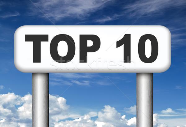 Top 10 charts lijst pop Stockfoto © kikkerdirk