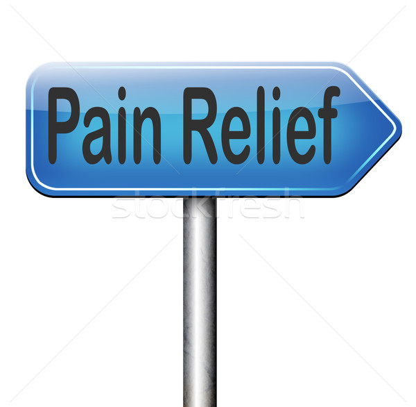 Pijn opluchting beheer migraine aanval pijnstiller Stockfoto © kikkerdirk