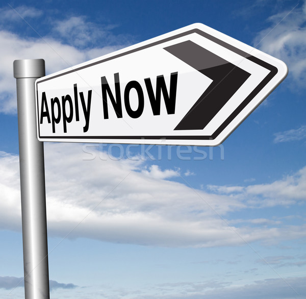 apply here and now Stock photo © kikkerdirk