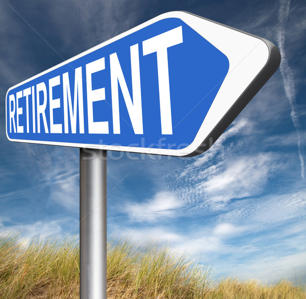 Pensioen vooruit pensioen plan Stockfoto © kikkerdirk
