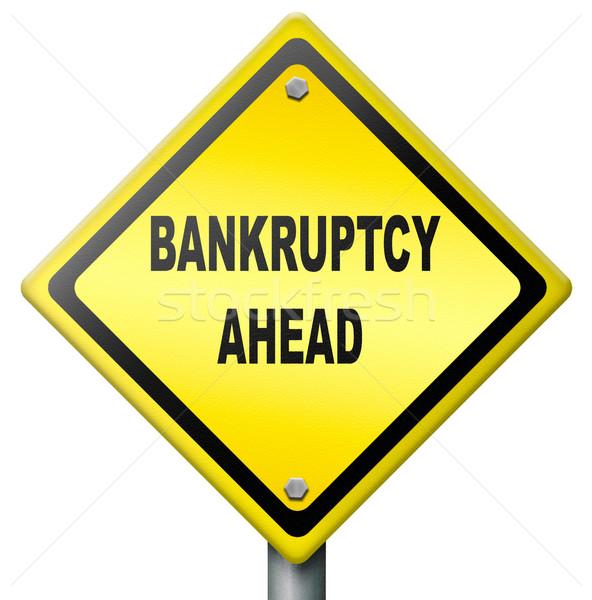Csőd előre adósság megkönnyebbülés felszámolás pénzügyi Stock fotó © kikkerdirk