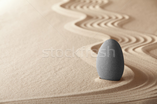 Zen garden symplicity and harmony form a background for meditation and relaxation, for balance and h Stock photo © kikkerdirk