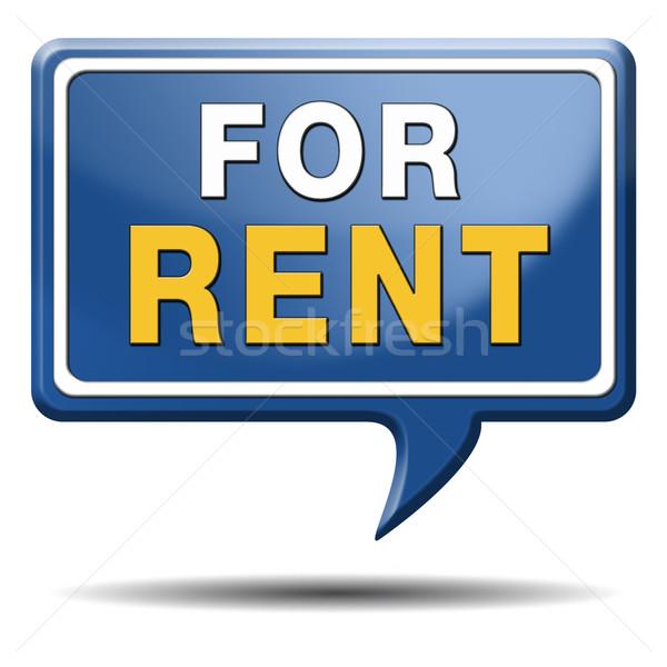 for rent sign Stock photo © kikkerdirk