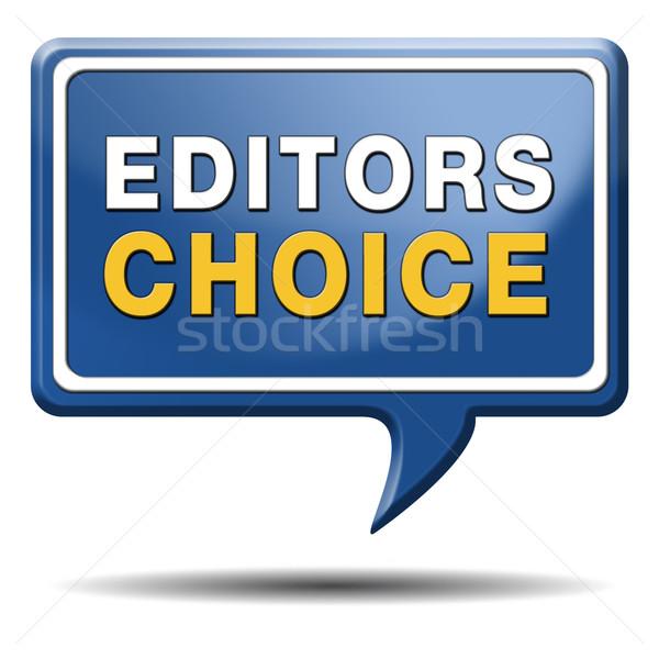 Elección adjudicación signo icono mejor editor Foto stock © kikkerdirk