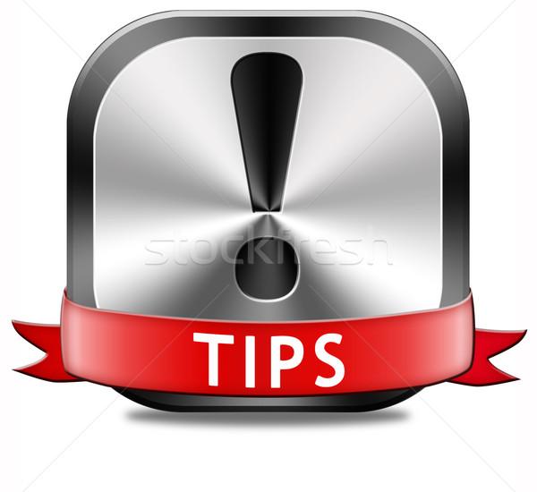 helpful tips button Stock photo © kikkerdirk