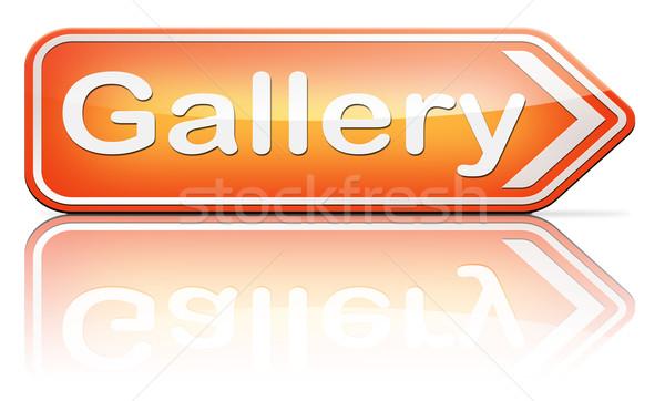 Resim galeri duvar fotoğraf görüntü sanat Stok fotoğraf © kikkerdirk