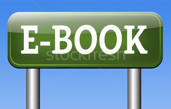 Ebook ler on-line eletrônico livro Foto stock © kikkerdirk