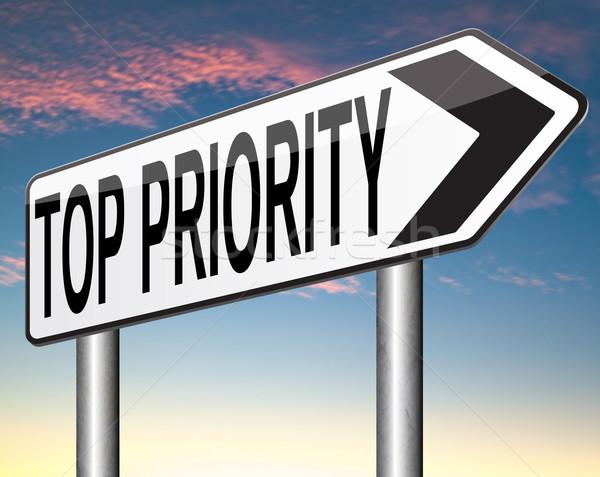 Topo prioridade importância importante informação agir Foto stock © kikkerdirk