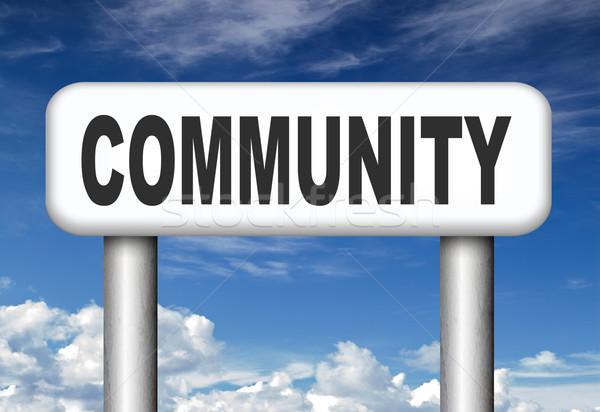 Közösség helyi emberi csoportkép együtt társasági Stock fotó © kikkerdirk