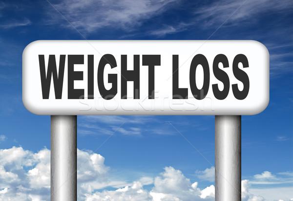 Fogyókúra túlsúlyos extra diéta testmozgás tornaterem Stock fotó © kikkerdirk