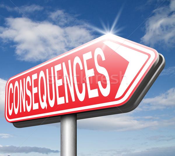 Consecuencias consecuencia cara Foto stock © kikkerdirk