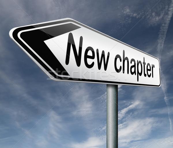 new chapter Stock photo © kikkerdirk