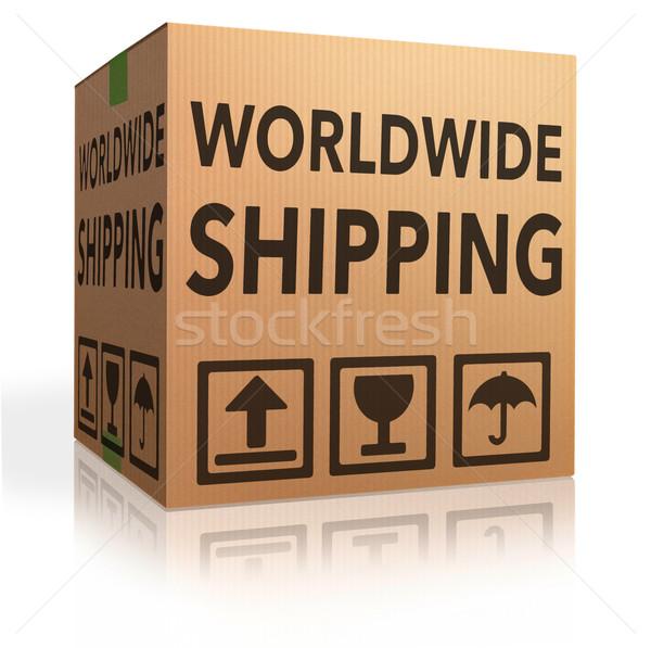 Világszerte szállítás háló bolt ikon online vásárlás Stock fotó © kikkerdirk