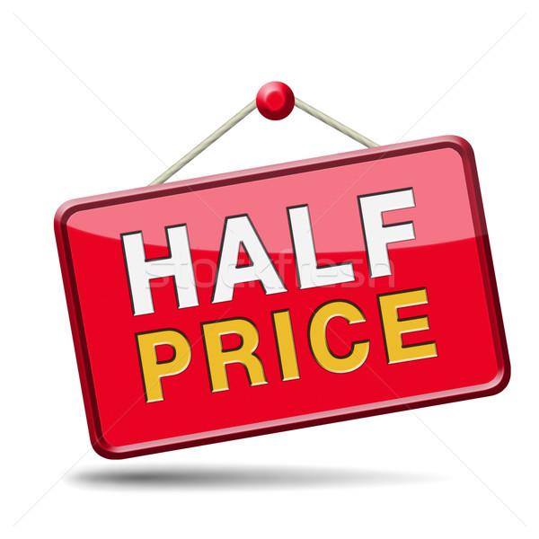 half price Stock photo © kikkerdirk