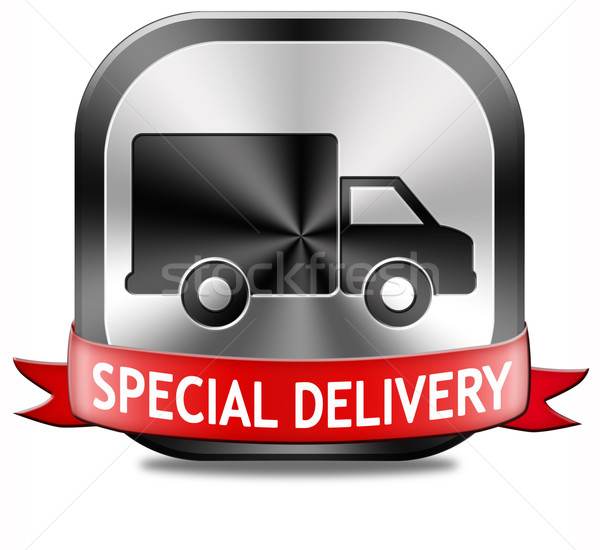 Speciaal pakketdienst levering online pakket scheepvaart Stockfoto © kikkerdirk