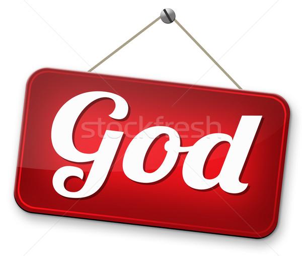 Boga zbawienie wyszukiwania drogowego nieba religii Zdjęcia stock © kikkerdirk