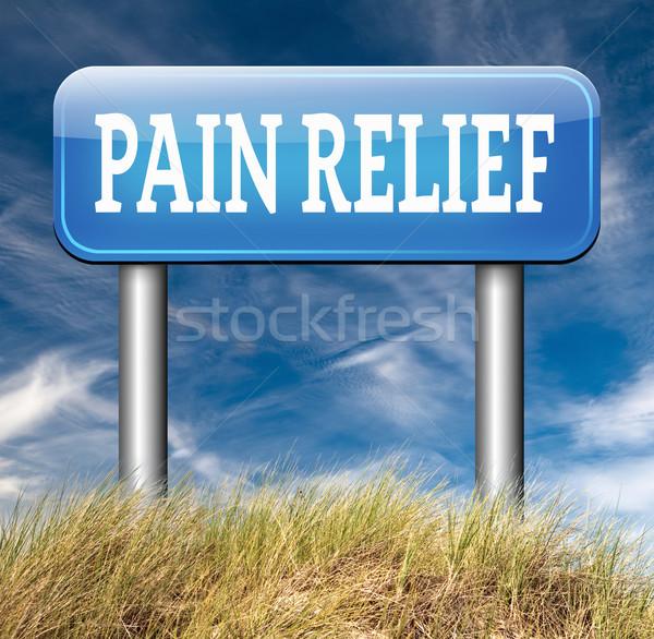 Dolor alivio gestión analgésico otro tratamiento Foto stock © kikkerdirk