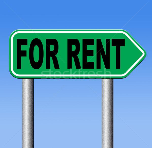 Alquilar apartamento casa banner habitación otro Foto stock © kikkerdirk