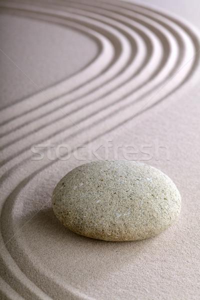 Zen kert japán meditáció egyszerűség nyugalom Stock fotó © kikkerdirk