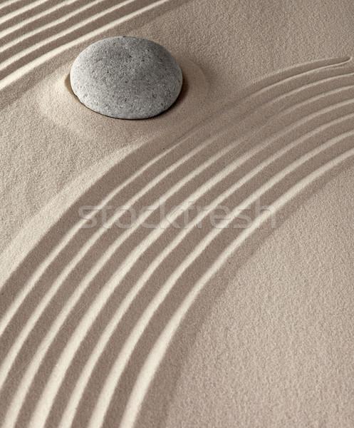 Spirituális meditáció kövek japán buddhizmus zen Stock fotó © kikkerdirk