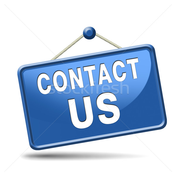 contact us icon Stock photo © kikkerdirk