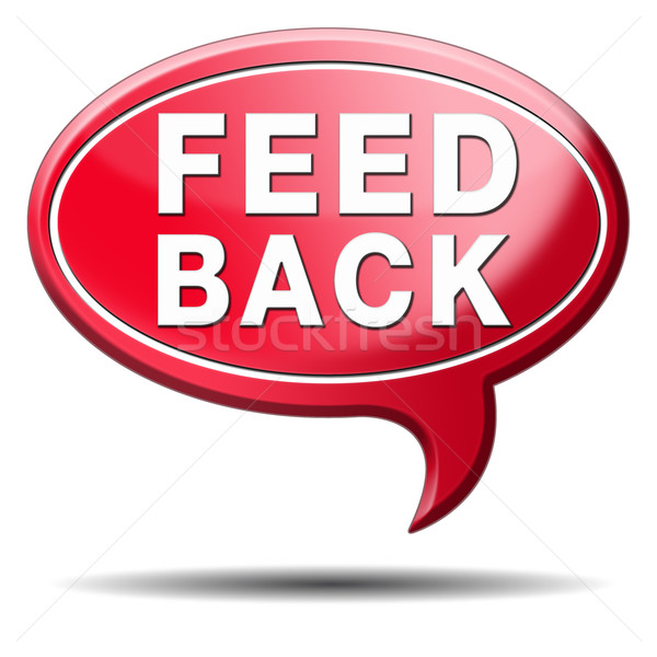 feed back icon Stock photo © kikkerdirk