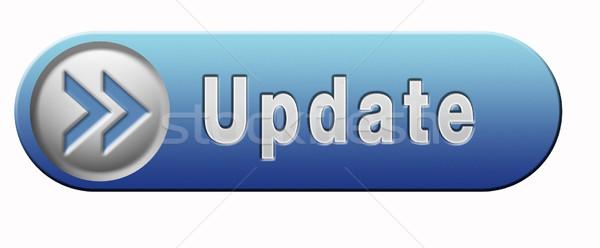 Aktualizacja przycisk oprogramowania teraz tutaj wersja Zdjęcia stock © kikkerdirk