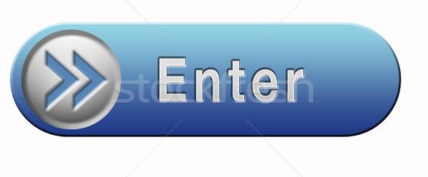 Belépés gomb ikon Stock fotó © kikkerdirk