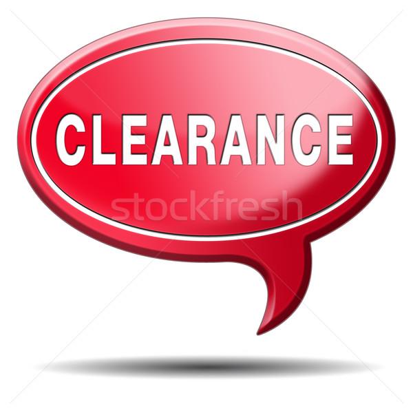 Vásár eladó árak el felhatalmazás elutasított Stock fotó © kikkerdirk