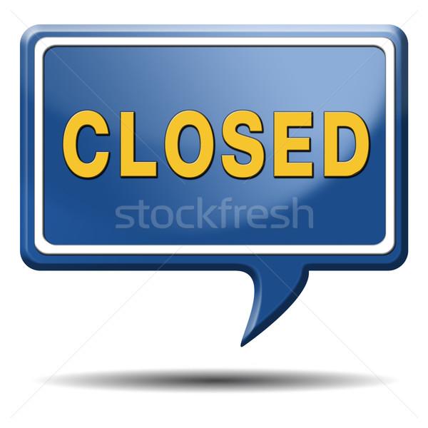 closing hours Stock photo © kikkerdirk